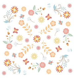 Floral flower texture vector