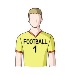 Footballerprofessions single icon in cartoon vector