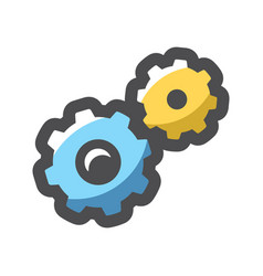 gears mechanical transmission icon cartoon vector image