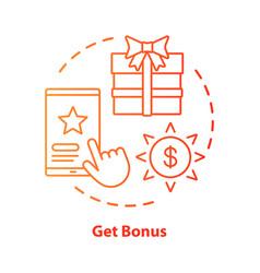 get bonus concept icon gifts prizes idea thin vector image