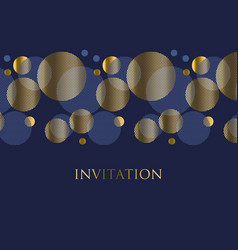 Gold and deep blue color abstract geometric design vector