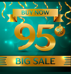 Gold big sale ninety five percent for discount vector