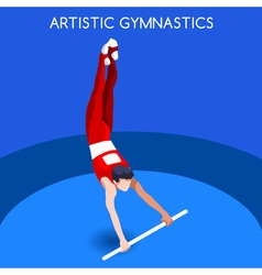 Gymnastics High Bar 2016 Summer Games 3D vector image