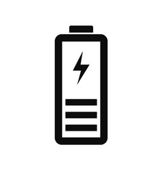 Half battery energy icon simple style vector