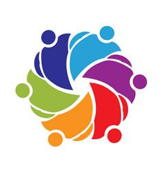 helpful teamwork people group symbol vector image