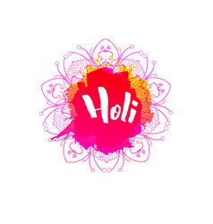 holi holiday emblem vector image