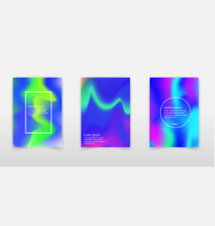 holographic shapes backgrounds set applicable for vector image
