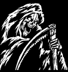 Horror grim reaper character vector