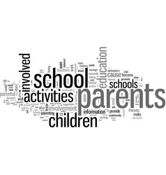 How to get parents involved with school activities vector