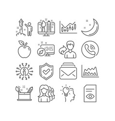 idea fireworks and mail icons creativity concept vector image