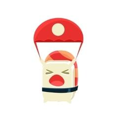 Kamikaze funny maki sushi character vector