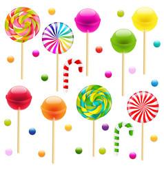 lollypop big set vector image
