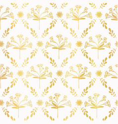 Luxe gold foil floral lattice seamless vector