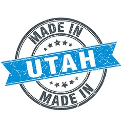 Made in Utah blue round vintage stamp vector