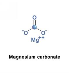 Magnesium carbonate molecule vector