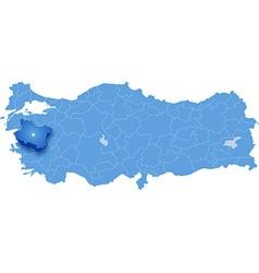 Map of Turkey Manisa vector