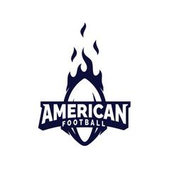 Modern professional american football logo for vector