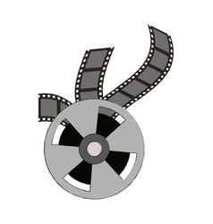 movie roll reel vector image