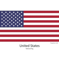 national flag united states with correct vector image