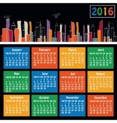 new york calendar vector image vector image