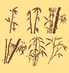 ORIENTAL BAMBOO INK PAINTING vector