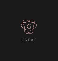 premium linear gradient monogram letter g logotype vector image