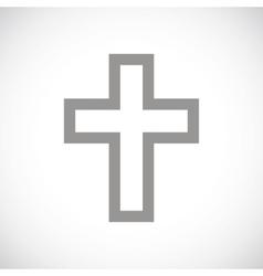 Protestant Cross black icon vector