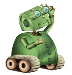 Retro robot vector image