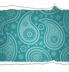 Ripped paisley paper vector