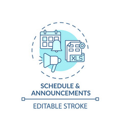 Schedule and announcements concept icon vector