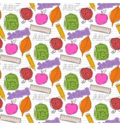 School pattern with color blots vector image