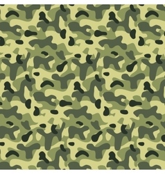 Seamless editable military pattern with camouflage vector