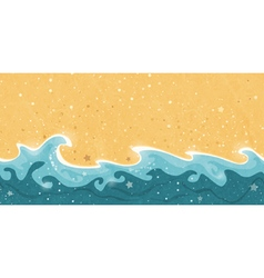 Seamless summer sand water border frame vector