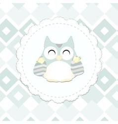 Shabby chic owl vector