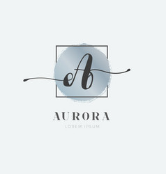 simple elegant initial letter a logo type sign vector image
