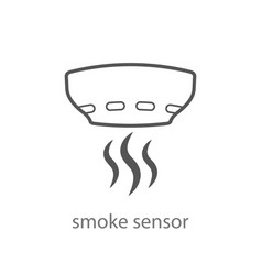 Smoke alarm system linear symbol isolated vector