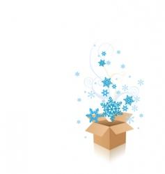 snowflake box vector image