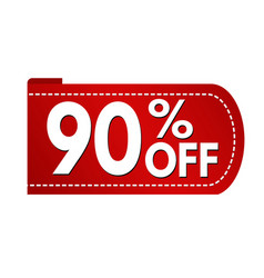 special offer 90 off banner design vector image