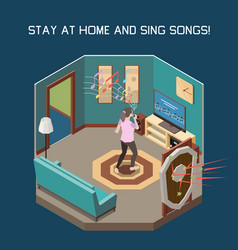 stay at home concept vector image