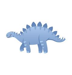Stegosaurus cartoon icon vector