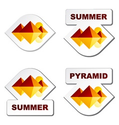 Summer egypt pyramid stickers vector