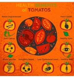 Tomatoes Benefits Image vector image