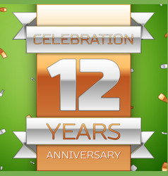 Twelve years anniversary celebration design vector