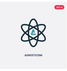 Two color agnosticism icon from religion concept vector