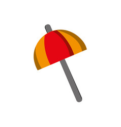 umbrella open style to weather protection vector image