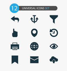 User icons set with filter show history and vector