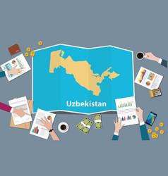 Uzbekistan country growth nation team discuss vector