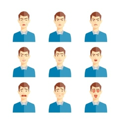 various emotions vector image