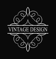 Vintage ornate logo vector