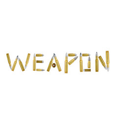 weapon realistic composition vector image
